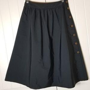 NWOT Zara Reversible Black Brown Skirt Small